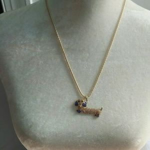 NWT Betsey Johnson Dachshund Pendant Necklace